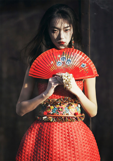 "Tian Yi in ""Memoirs Of A Geisha"" by Oliver Stalmans for ELLE Vietnam, May 2013."