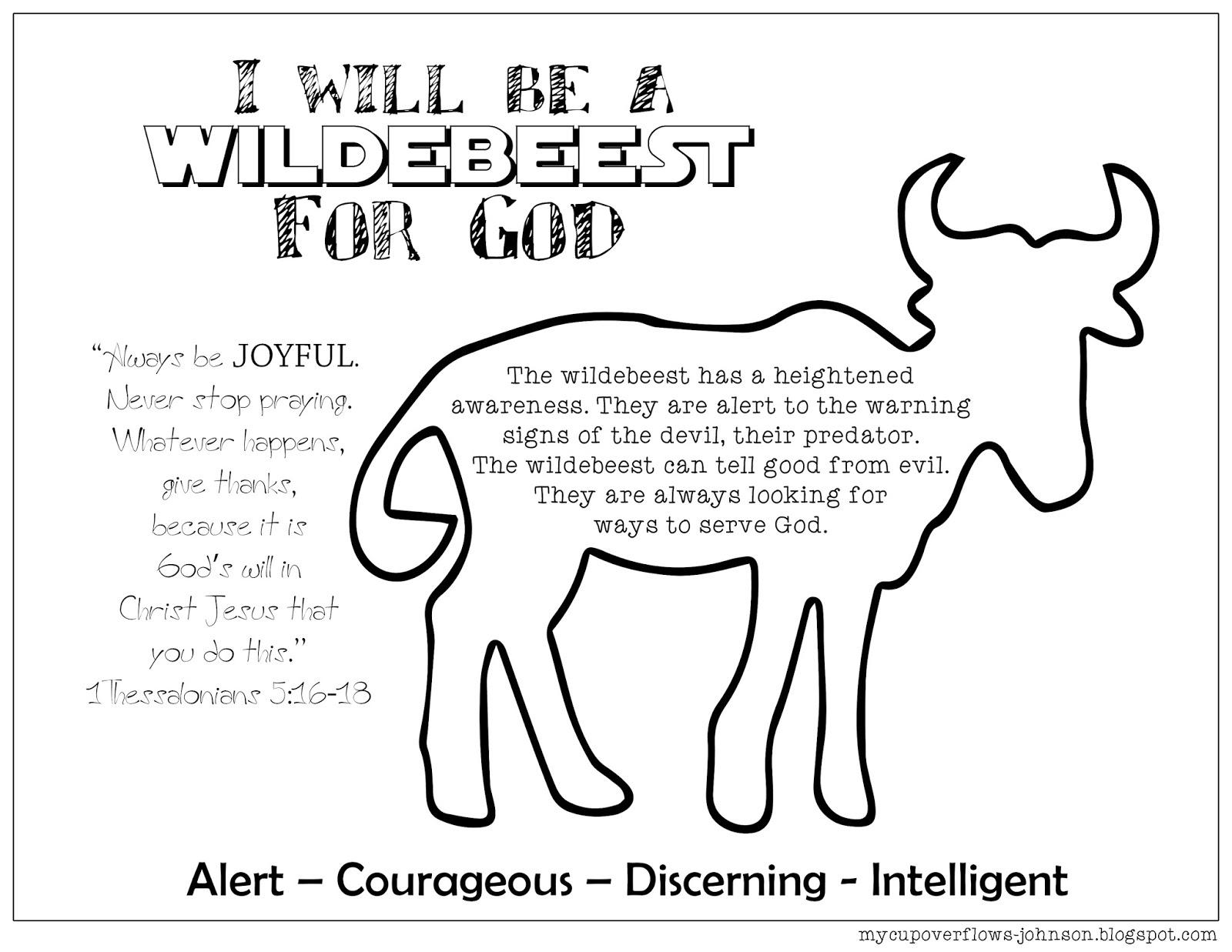 Animal For God Free Printable Coloring Page