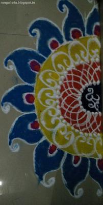 Half Circle Rangolis