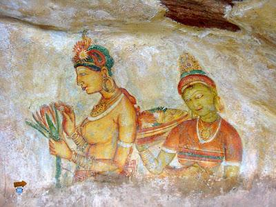 Frescos- Damas de Sigiriya