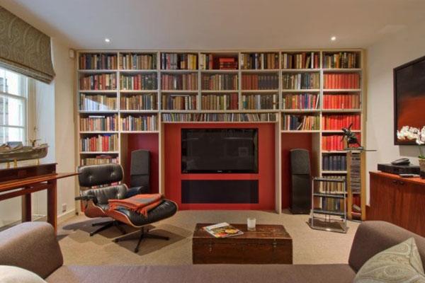 Hogares frescos 37 ideas para la biblioteca de dise o con for Diseno de hogares