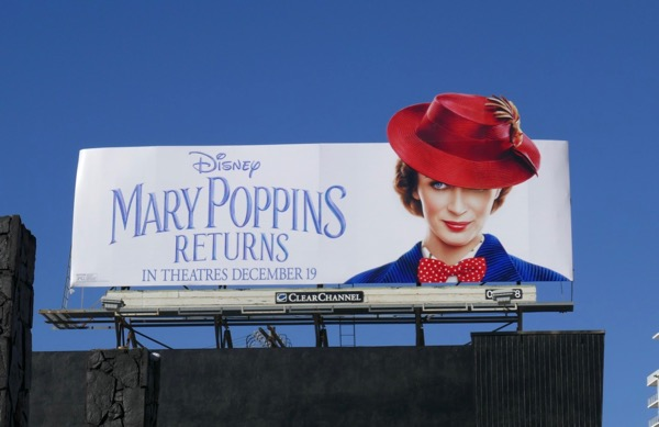 Mary Poppins Returns movie billboard