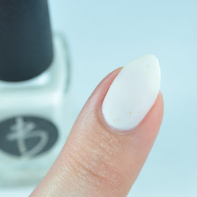 Matte white nail polish
