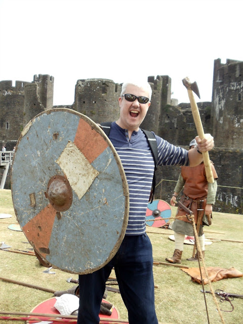 Mr Ty Siriol ready to protect his clan at Caerphilly Castle