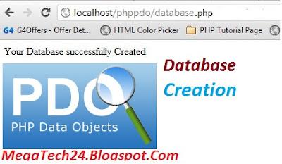 Create MySQL Database using PDO