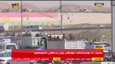people are leaving the Iraqi city of Kirkuk