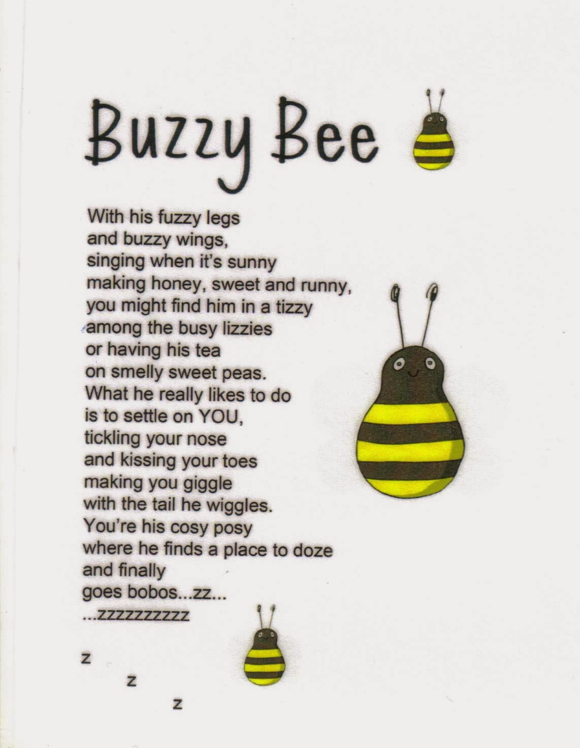 All Write Buzzy Bee