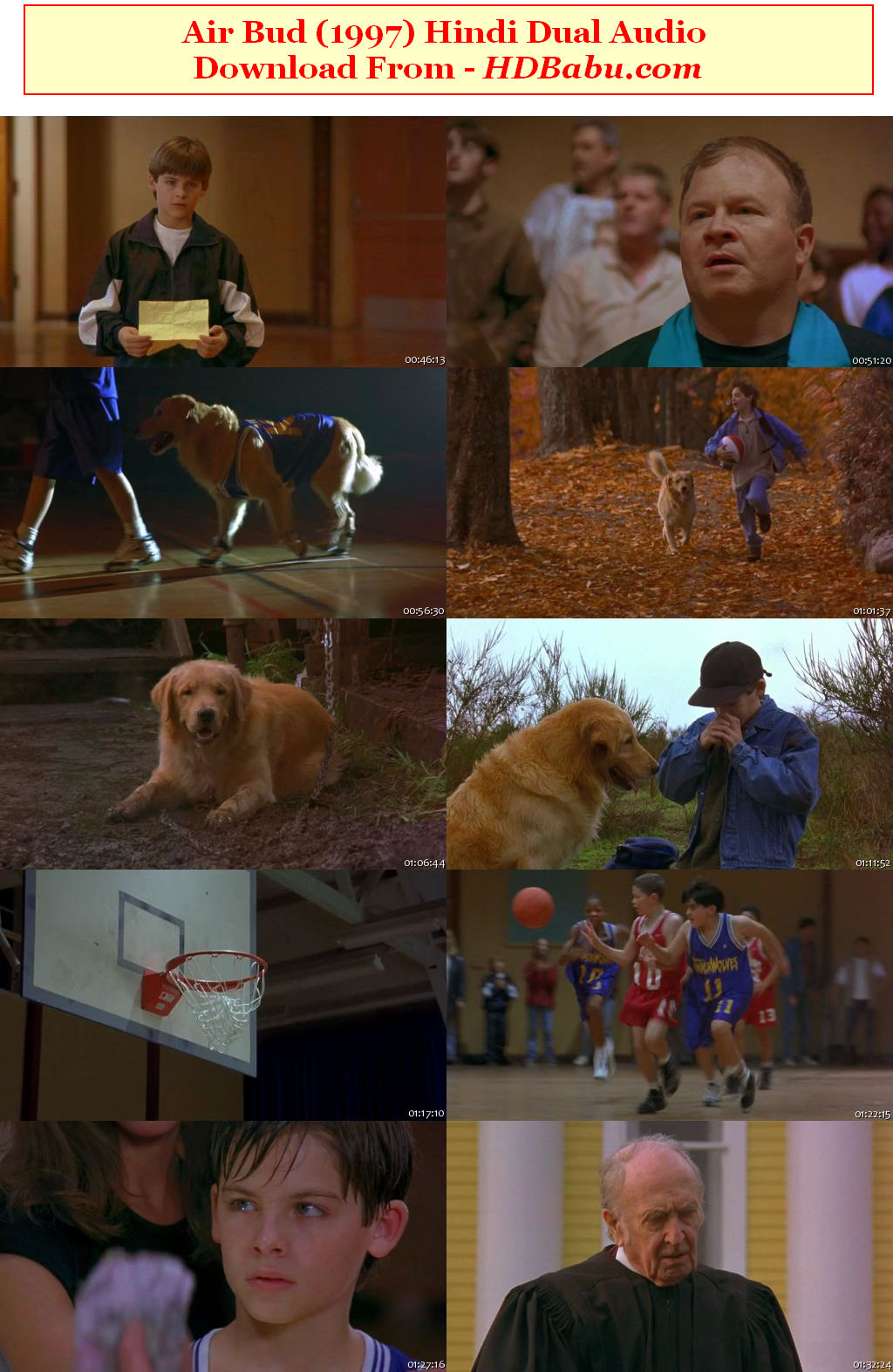 Air Bud Dual Audio Full Movie Download