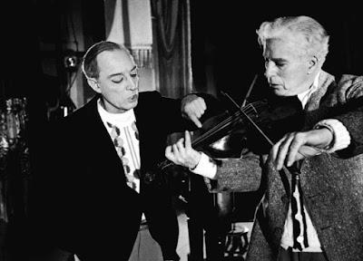 """Чарли Чаплин и Бастер Китон на репетиции """"Огней рампы"""" 4"""