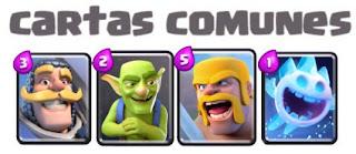tipos de cartas comunes clash royale