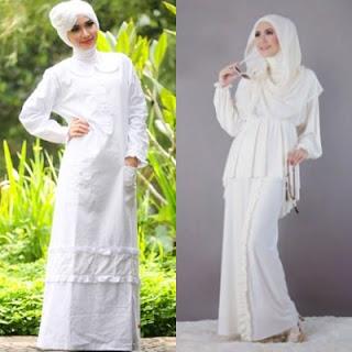 3 Jenis Baju Muslim Wanita Warna Putih Paling Banyak Dicari Model