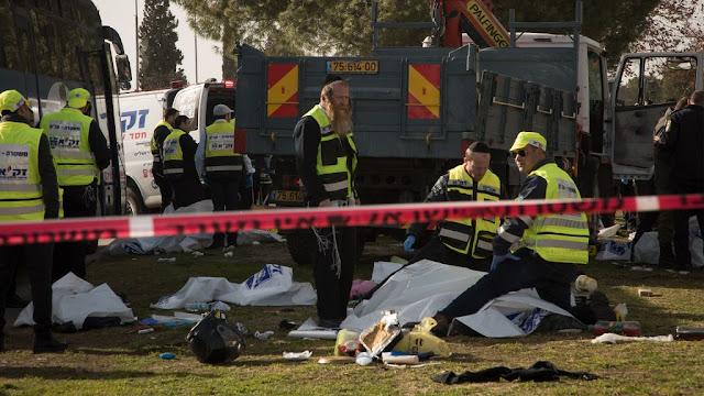Paramédicos responden al ataque en Jerusalém