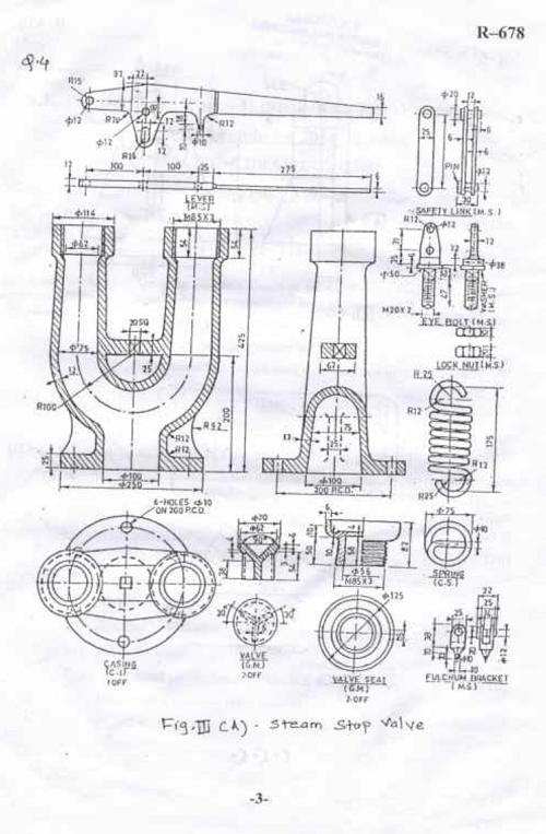 SU 42663 Machine Drawing Dec 2014 Question Paper