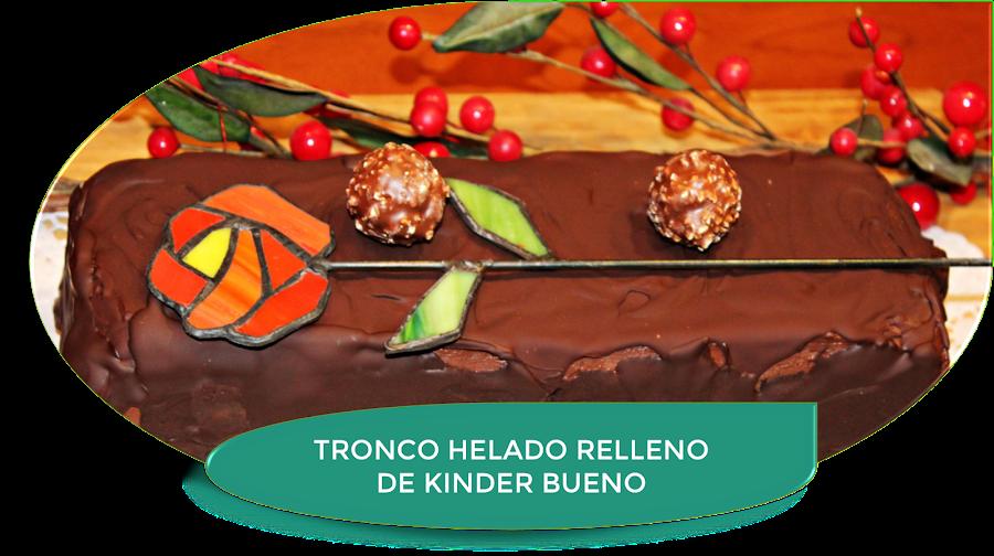 TRONCO HELADO RELLENO DE KINDER BUENO
