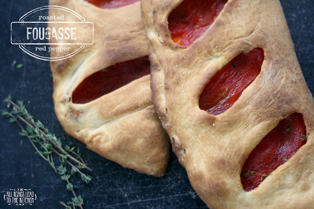 Roasted Red Pepper Fougasse + Simple Olive Oil Dough