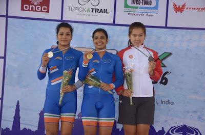 India grabs 8 medals on the final day of the Track Asia Cup 2016