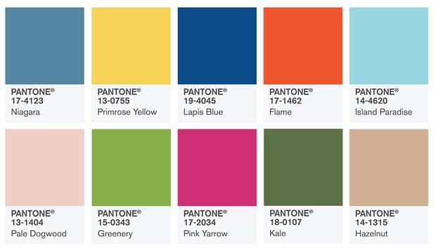 Cores Pantone 2017