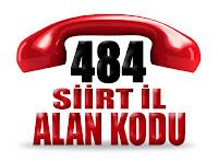 0484 Siirt telefon alan kodu
