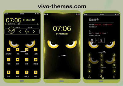 The Yellow Wallpaper Theme For Vivo Android Smartphone