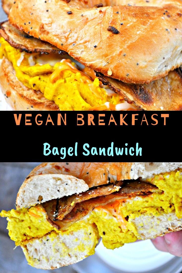 Vegan Breakfast Bagel Sandwich Recipe