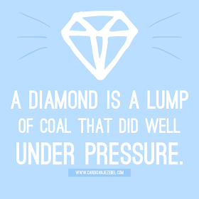 A Diamond is a lump of coal that did well under pressure motivational quote freebie