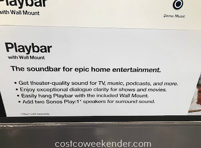 Costco 1271990 - Sonos Playbar soundbar with wall mount: great for any home