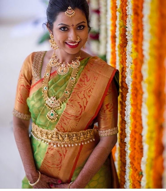 Bride in Kundan Long Chain Choker