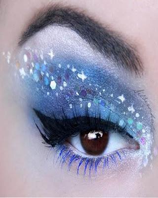 maquillaje de ojos unicornio