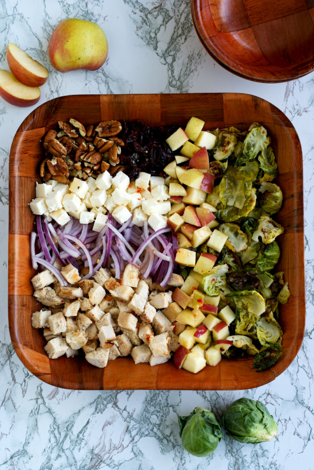 Crispy Brussels Sprouts and Grilled Chicken Harvest Salad | thetwobiteclub.com | #ad @Tyson @