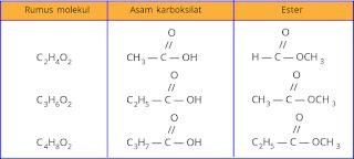 Contoh keisomeran asam karboksilat dan ester