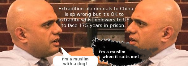 Muslim double standard combined with UK double standard.