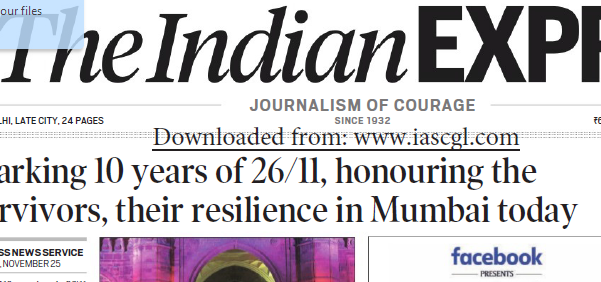 Indian Express ePaper Download 26th November 2018
