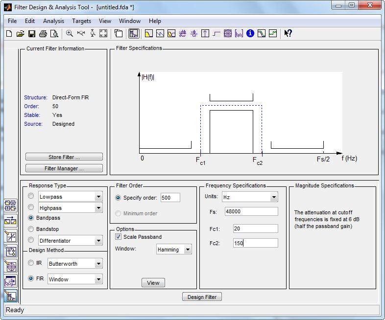 FIR & IIR Filter Coefficient Generation using MATLAB | Development
