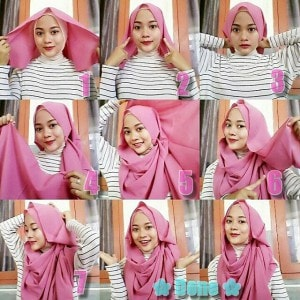 tutorial hijab pashmina satin simple tanpa ninja