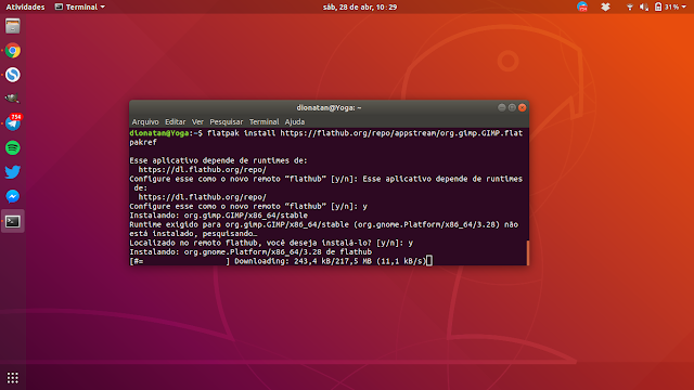 Instalando o novo GIMP via Flatpak