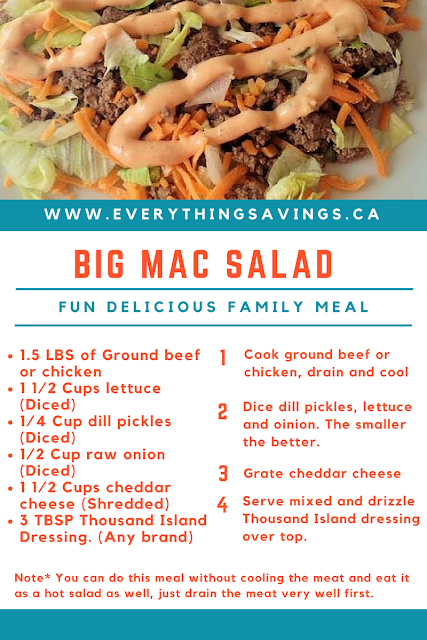 Our Version of Big Mac Salad