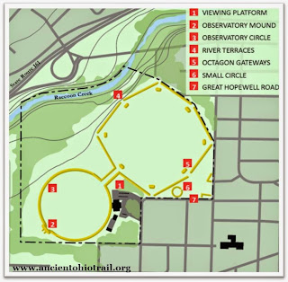 Map of the Octagon Earthworks, part of the Newark Earthworks. Image Courtesy of the Ancient Ohio Trail.