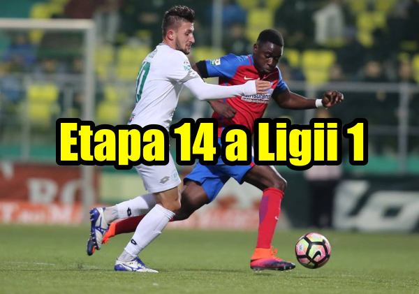 Program etapa 14 a ligii 1 de fotbal din Romania