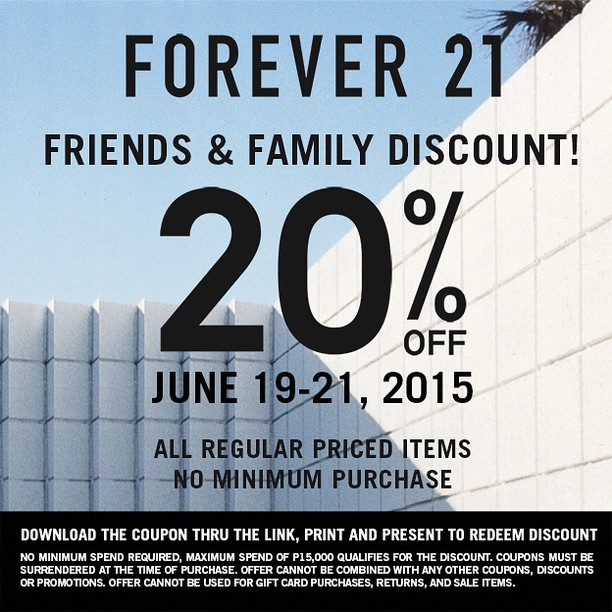 It is an image of Delicate Forever 21 Coupons in Store Printable
