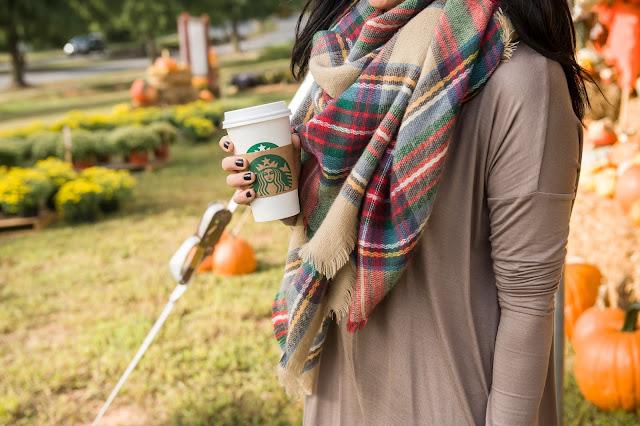 Blanket scarf, swing dress