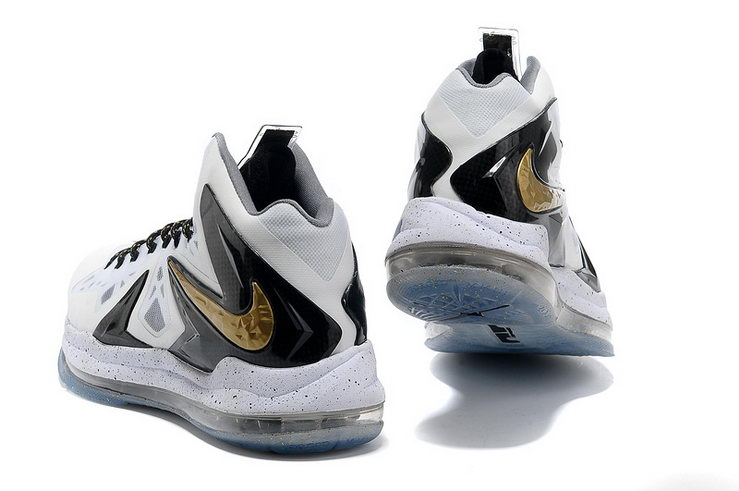 new arrival 809d9 6e6ea Nike LeBron X P.S. Elite+ White Metallic Gold-Black Sneaker now available  from our shop,now have a view here