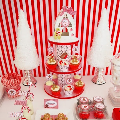 Christmas Candyland Party Ideas & Desserts Table
