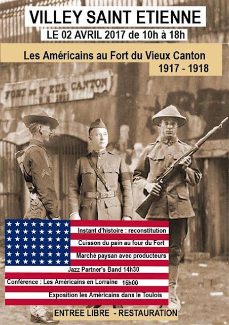 VILLEY-SAINT-ETIENNE (54) - Commémoration centenaire des Américains au Fort du Vieux Canton (2 avril 2017)