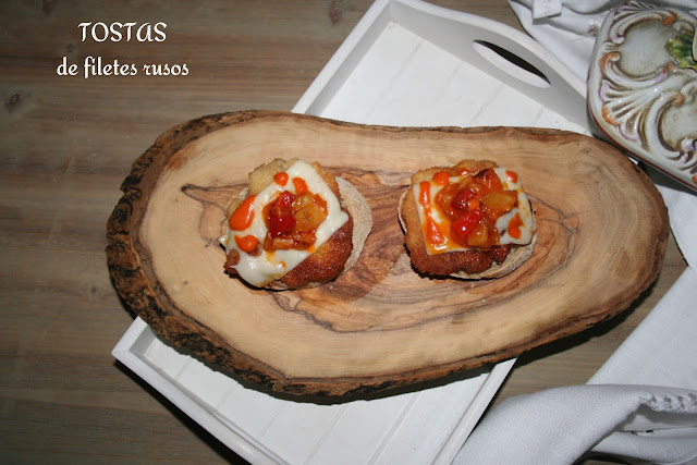 tosta caliente, filetes rusos, salsa brava