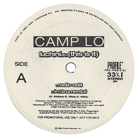 Camp Lo Luchini A K A This Is It Swing Promo Vls