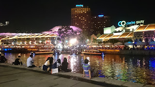 Clarke Quay Singapore by night
