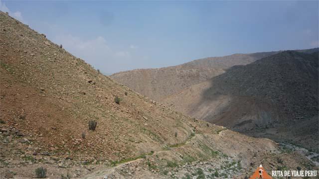 Vista del  Camino Inca  Chontay a California