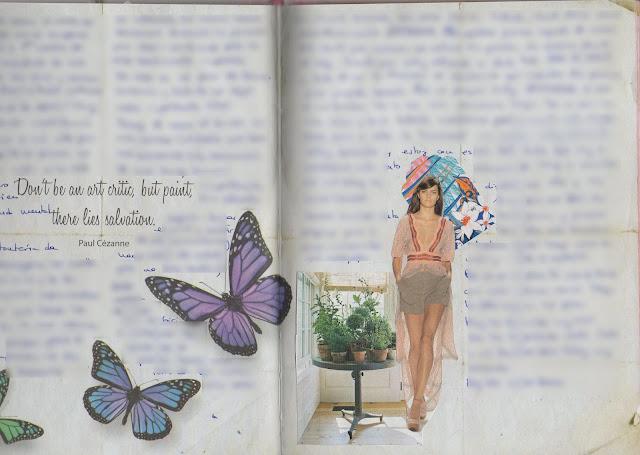 Páginas de mis art journals - collages, diario, journaling - El Pegotiblog