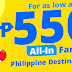 Cebupac Promo 550 All-In Fare