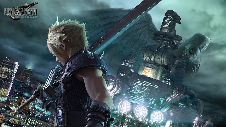 final fantasy 7 remake cloud strife sephiroth uhdpaper.com 4K 4